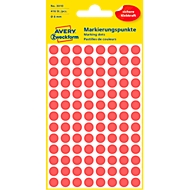 AVERY Zweckform Points de marquage, Ø 8 mm, # 3010, rouge, 1 paquet