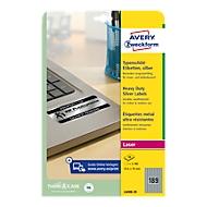 AVERY® Zweckform Typenschild-Etiketten L6008-20, 25,4 x 10 mm, 3780 Etiketten
