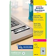 AVERY® Zweckform Typenschild-Etiketten L6012-20, 96 x 50,8 mm, 200 Etiketten