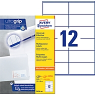 AVERY Zweckform Universal-Etiketten 3424-200, ultragrip, 105 x 48 mm, 2400 + 240 Stück