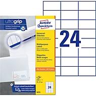 AVERY Zweckform Universal-Etiketten 3474, ultragrip, 70 x 37 mm, 2400 Stück