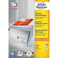 AVERY Zweckform Universal Etiketten 3666, A4, matt, 6500 Etiketten