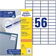 AVERY Zweckform Universal-Etiketten 3668, ultragrip, 52,5 x 21,2 mm, 5600 Stück