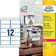 Avery Zweckform weerbestendige folie-etiketten L4776-20, 99,1 x 42,3 mm, permanent, wit