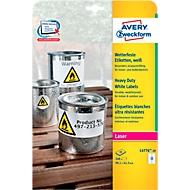 Avery Zweckform Wetterfeste Folien-Etiketten L4776-20, 99,1 x 42,3 mm, permanent, weiß