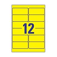 Avery Zweckform Wetterfeste Folien-Etiketten L6107-20, 99,1 x 42,3 mm, permanent, gelb