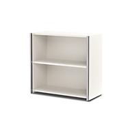AXXETO boekenkast, 2 OH, B. 800 x D 380 x H 760 mm, wit
