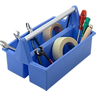 Bac à outils, bleu