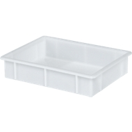 Bac alimentaire 445X345X90 mm. 10 litres. Blanc