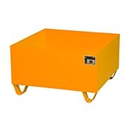 Bac de rétention en acier - 800 x 800 mm -orange RAL 2000