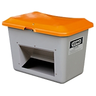 Bac de sablage standard CEMO, en PRV, avec ouverture de prélèvement, 200 litres, L 890 x l. 600 x H 640 mm
