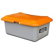 Bac de sablage standard CEMO, en PRV,  sans ouverture de prélèvement, 100 litres, L 890 x l. 600 x H 340 mm