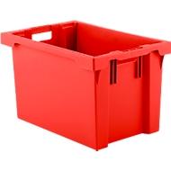 Bac gerbable et empilable FB 604, 62L, rouge