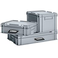 Bac mallette en PP 400 x 300 x 330 gris