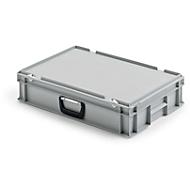 Bac mallette en PP 600 x 400 x 130 gris