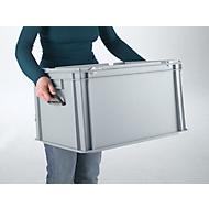 Bac mallette en PP 600 x 400 x 330 gris