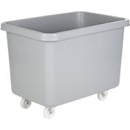 Bac rectangulaire mobile, en synthétique, 227 litres, gris
