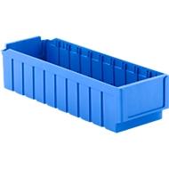 Bacs pour rayonnage RK 521, 10 cases, polystyrène, bleu