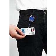 Badgehouder Jojo Style, met metalen veerhaak, 1 stuk, donkerblauw