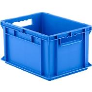 Bak in Euro-formaat EF 4220, zonder deksel, 20,4 l, blauw