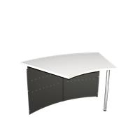 Balie Milaan, tafel 45°, antraciet/alus zilver, tafel 45°, antraciet/alus zilver