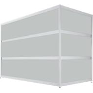 Balie Tool, recht, (bxdxh) 1500 x 800 x 1100 mm, beukendecor/mdf zilver