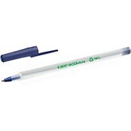 Balpen met dop BIC® ECOlutions® Round Stic®, 0,4 mm, gerecycleerd, blauw, 60 stuks