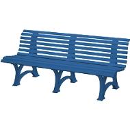 Banc urbain, 4 places, L 2000 mm, bleu