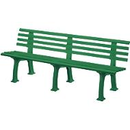Banc urbain, 4 places, L 2000 mm, vert