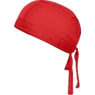Bandana Hat, Einheitsgröße, Polyester & Baumwolle, Werbefläche 50 x 30 mm, rot