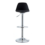 Barhocker Paperflow Bobba, PP-Sitz mit Sitzkissen, höhenverst., 360° drehbar, H 590-710 mm, schwarz, 2er-Set