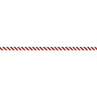 Barrièreband, polyethyleenfolie, 100 m x 80 mm, rood/wit uitgekomen, 1 rol