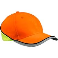 Basecap Neon Reflex, reflektierendes IQseen™ Material, Sichtbarkeit bis 160 m, EN 471, unisex, neon orange