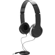 Basic Kopfhörer, mit Kabel, faltbar, isoliert Außengeräusche, schwarz