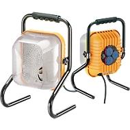 Bau-Leuchte Brobusta, mobil, blendarm, mit integriertem 3-fach Stromverteiler