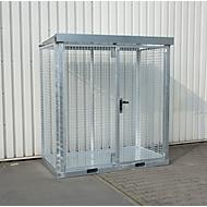 Bauer Gasflaschen-Container TYP GFC-E, abschließbar, Gitterrostboden
