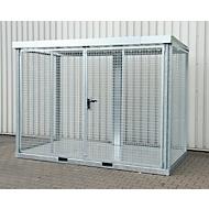 Bauer Gasflaschen-Container TYP GFC-E, abschließbar, L 3135 x B 1570 x H 2260 mm, Gitterrostboden