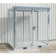 Bauer Gasflaschen-Container, TYP GFC-E, H 2260 x B 1570 x T 2115 mm, Gitterrostboden