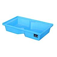 Bauer PE-lekbak voor pallets, volume opvangbak 60 L, blauw