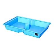 Bauer PE-lekbakken voor pallets, blauw, volume opvangbak 100 l