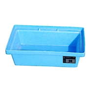 Bauer PE opvangbak voor pallets, opvangbakvolume 20 liter, blauw