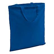 Baumwolltasche kurze Henkel, ca. B38 x H42cm , Baumwolle, Blau, Auswahl Werbeanbringung optional