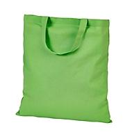 Baumwolltasche kurze Henkel - ca. B38 x H42cm  - Baumwolle, Hellgrün, Auswahl Werbeanbringung optional