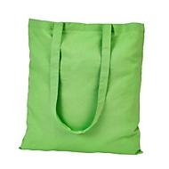 Baumwolltasche lange Henkel - Baumwolle - ca. B38 x H42cm, Hellgrün, Auswahl Werbeanbringung optional
