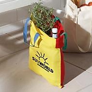 Baumwolltasche mehrfarbig - bunt, Gelb/Rot, Auswahl Werbeanbringung optional