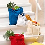 Baumwolltasche mit Bodenfalte, Natur, Standard, Auswahl Werbeanbringung optional