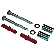Befestigungs-Set für Befestigungspfosten, 2 Schrauben (10 x 100 mm)