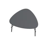 Beistelltisch Paperflow Lazy, Trapezform, furniertes MDF, Stahlgestell, B 605 x T 500 x H 450 mm, schwarz/schwarz