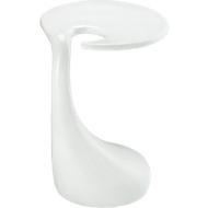 Beistelltisch, weiß-hochglanz, Platte oval, Höhe 560 mm