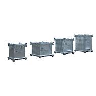 Bergungsgroßverpackungen BAUER SAG 800, Stahlblech, feuerverzinkt, abschließbar, B 1200 x T 1000 x H 1235 mm